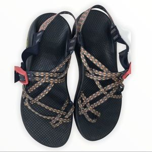 CHACO ZX/2 Black Pink Aztec Double Strap Toe Strap